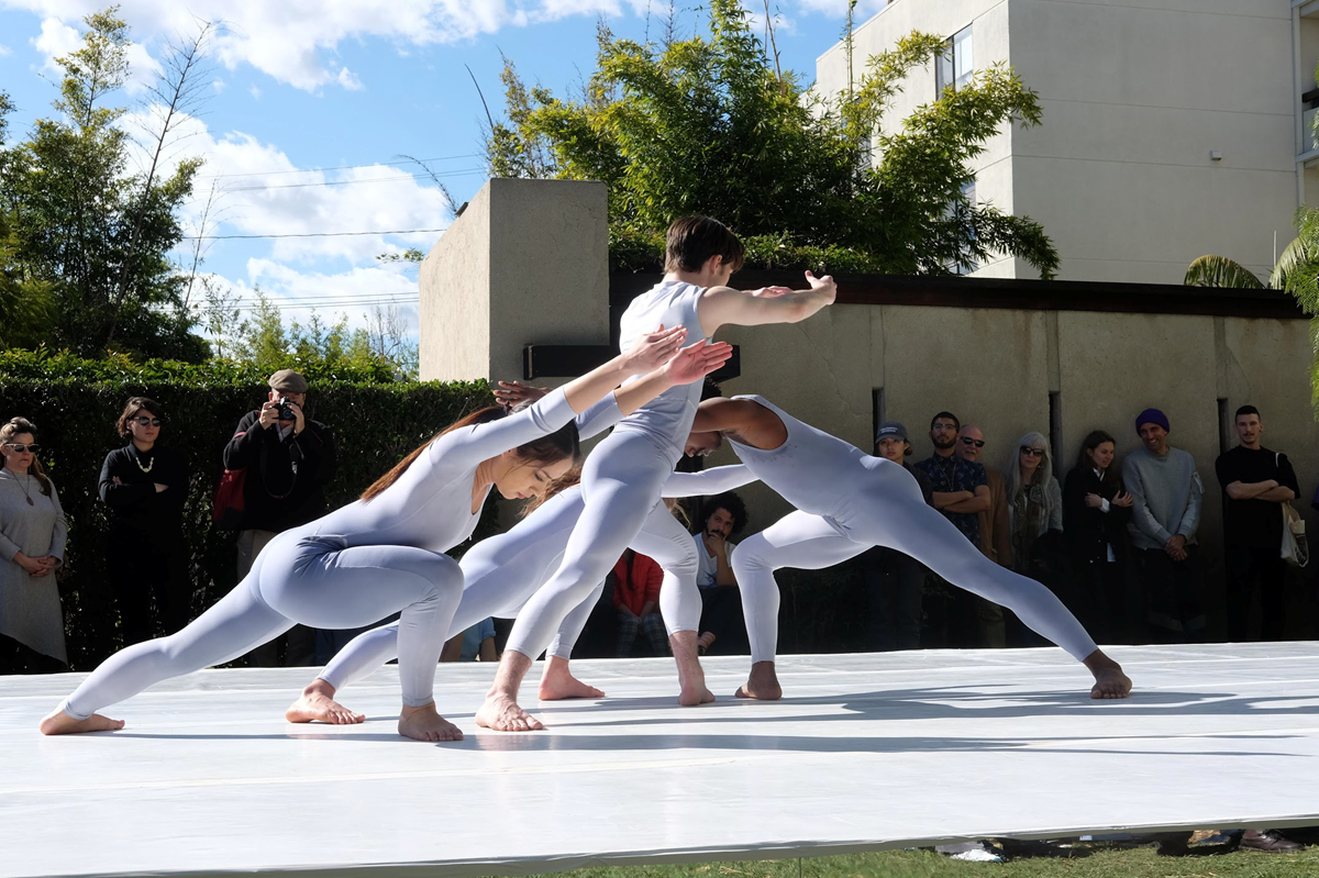 Dancers performing Cunningham at MAK center